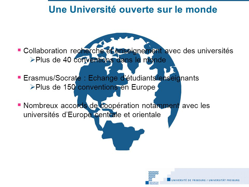 Une Université ouverte sur le monde