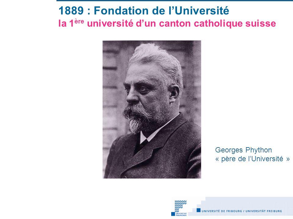 1889 : Fondation de l'Université la 1ère université d'un canton catholique suisse