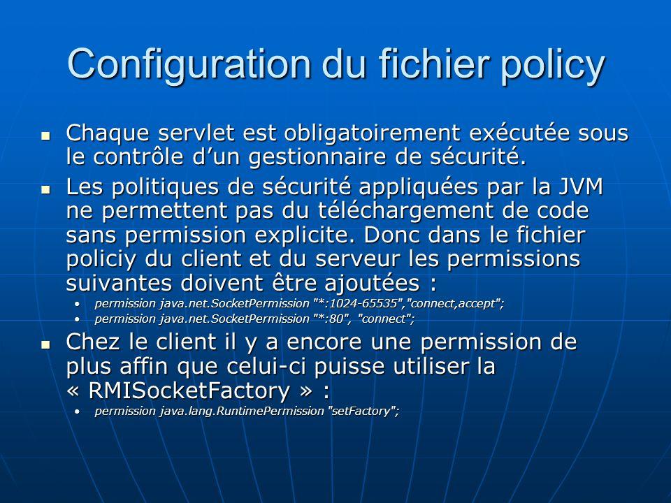 Configuration du fichier policy
