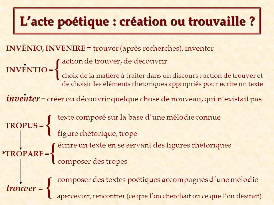 L'acte poétique : création ou trouvaille
