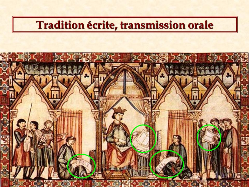Tradition écrite, transmission orale