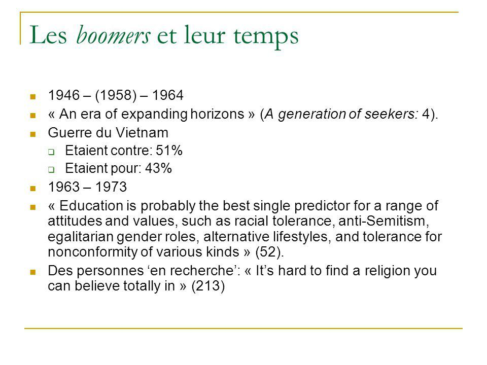 Les boomers et leur temps