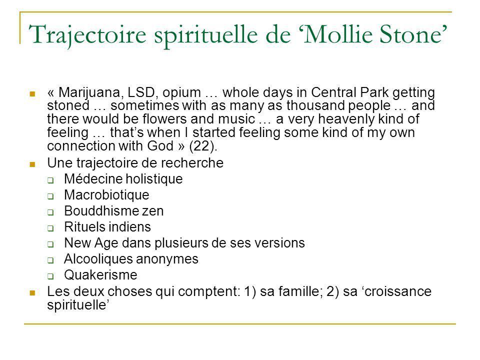 Trajectoire spirituelle de 'Mollie Stone'