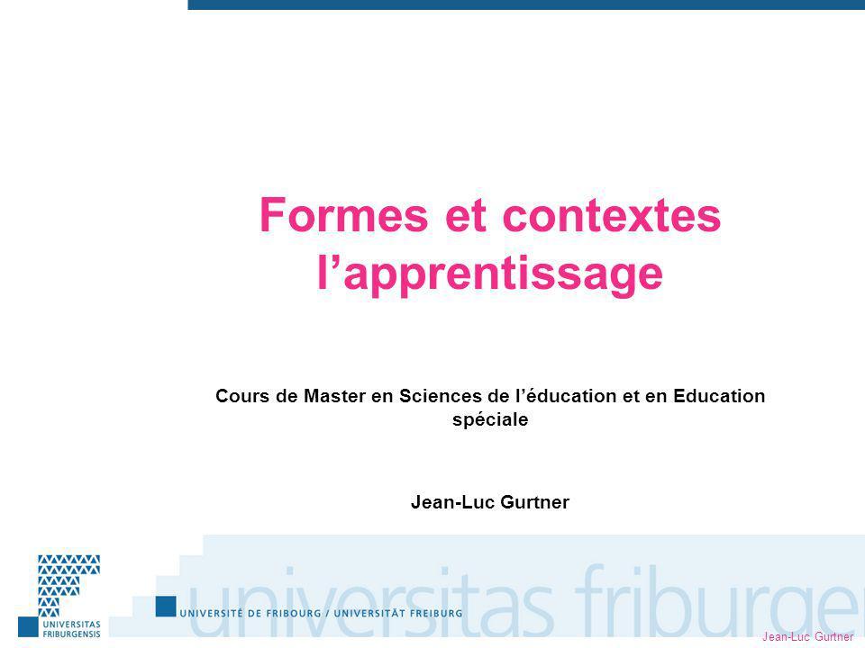 Formes et contextes l'apprentissage