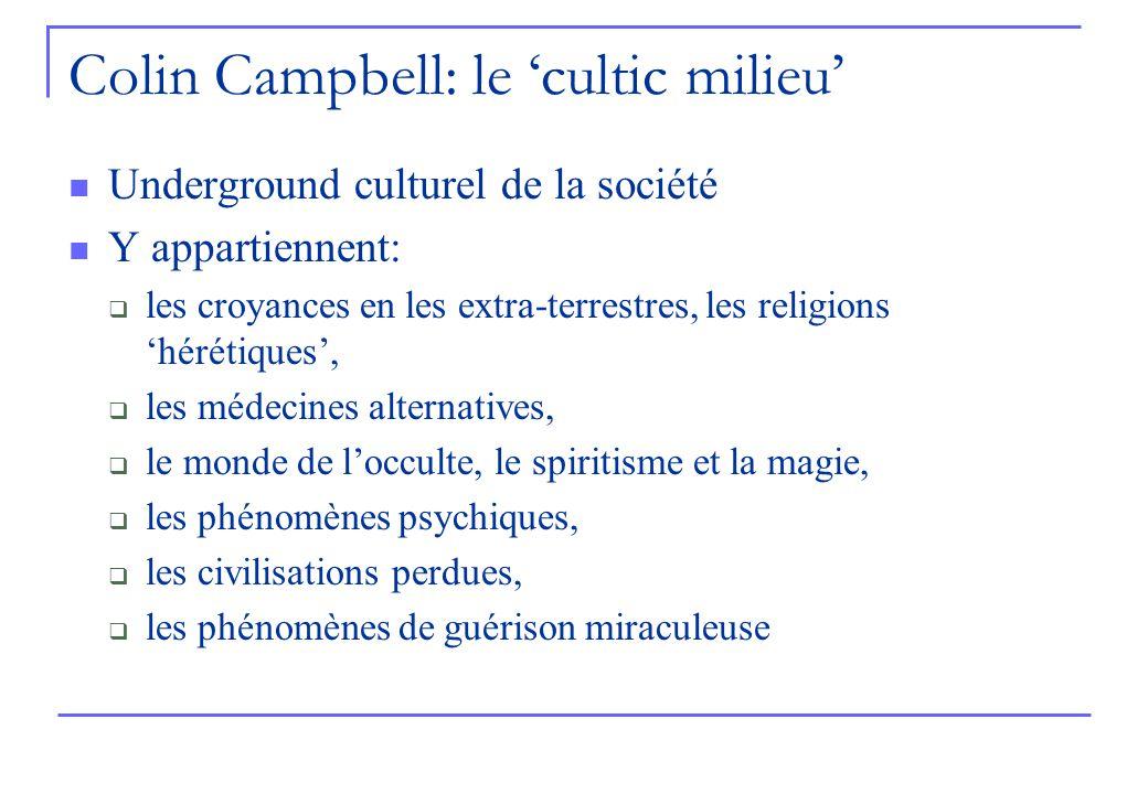 Colin Campbell: le 'cultic milieu'