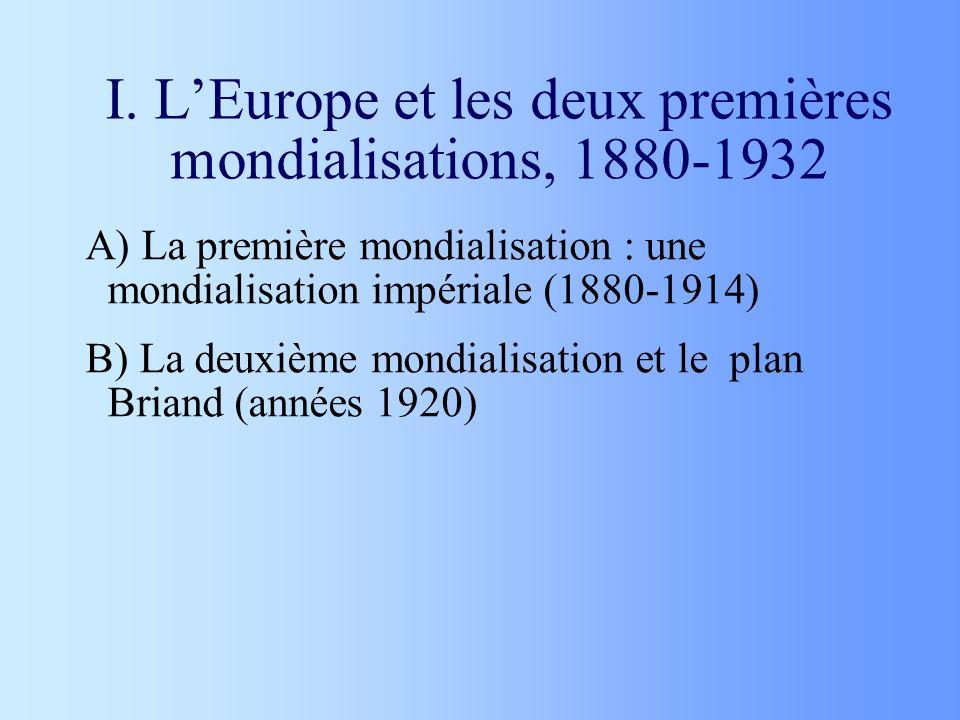 I. L'Europe et les deux premières mondialisations, 1880-1932
