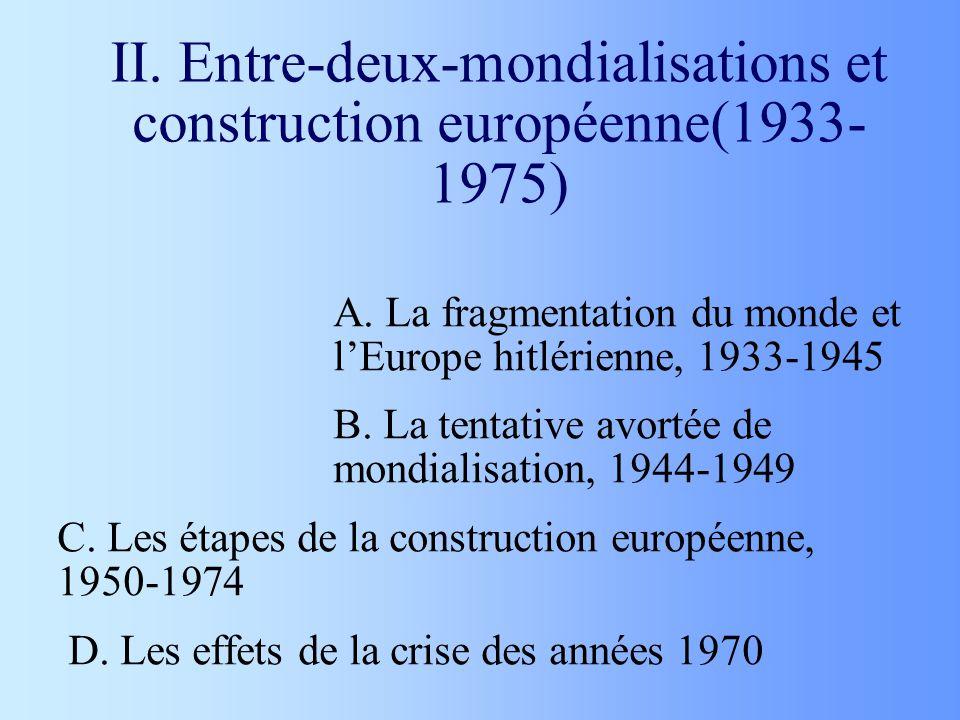 II. Entre-deux-mondialisations et construction européenne(1933-1975)