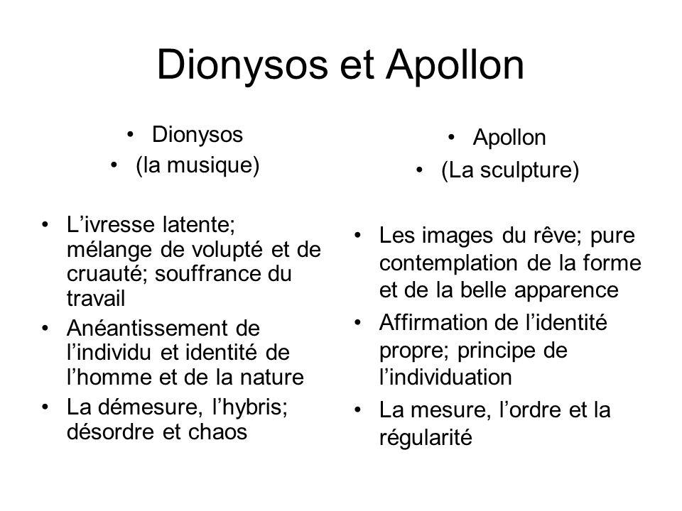 Dionysos et Apollon Dionysos (la musique)