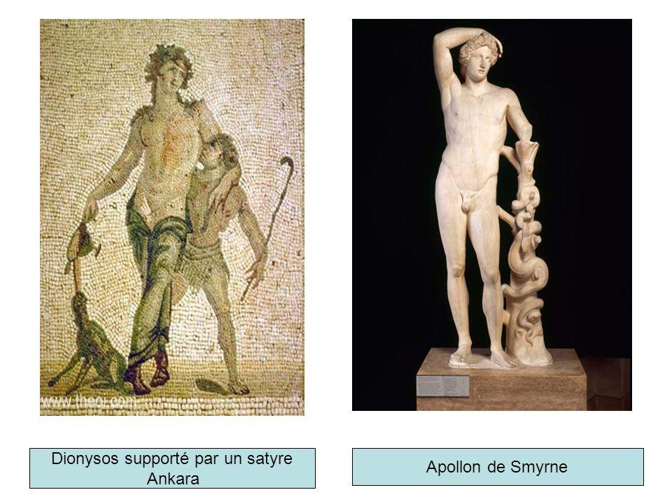 Dionysos supporté par un satyre