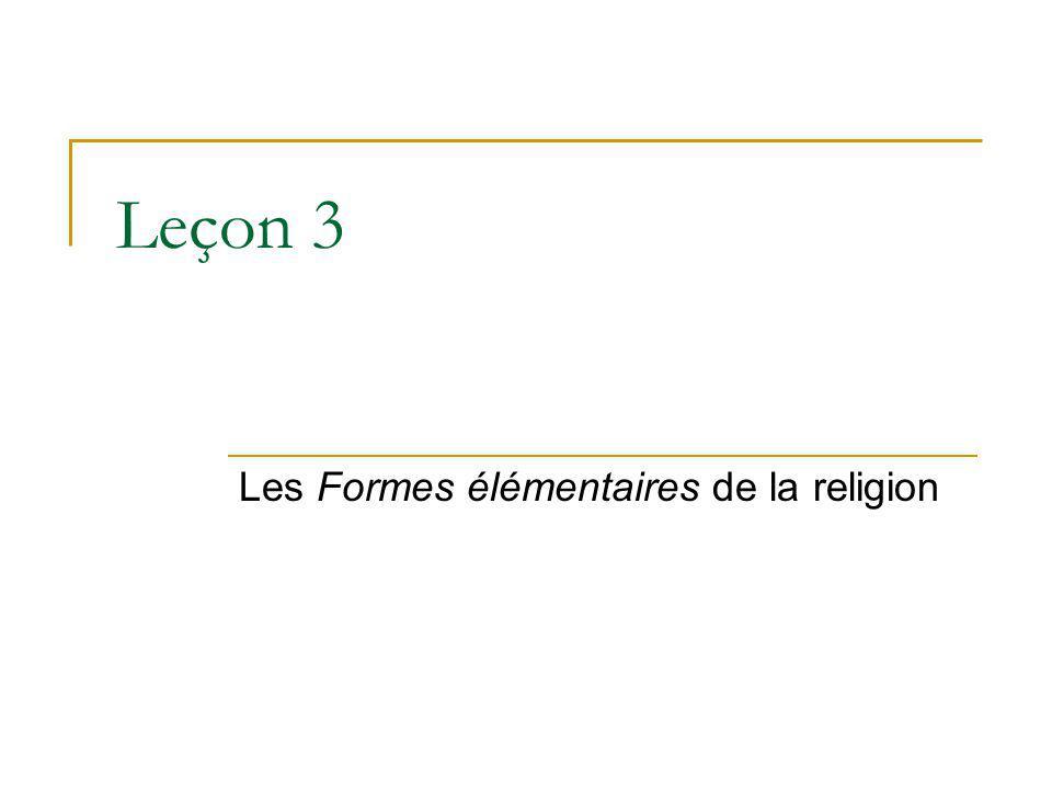 Les Formes élémentaires de la religion