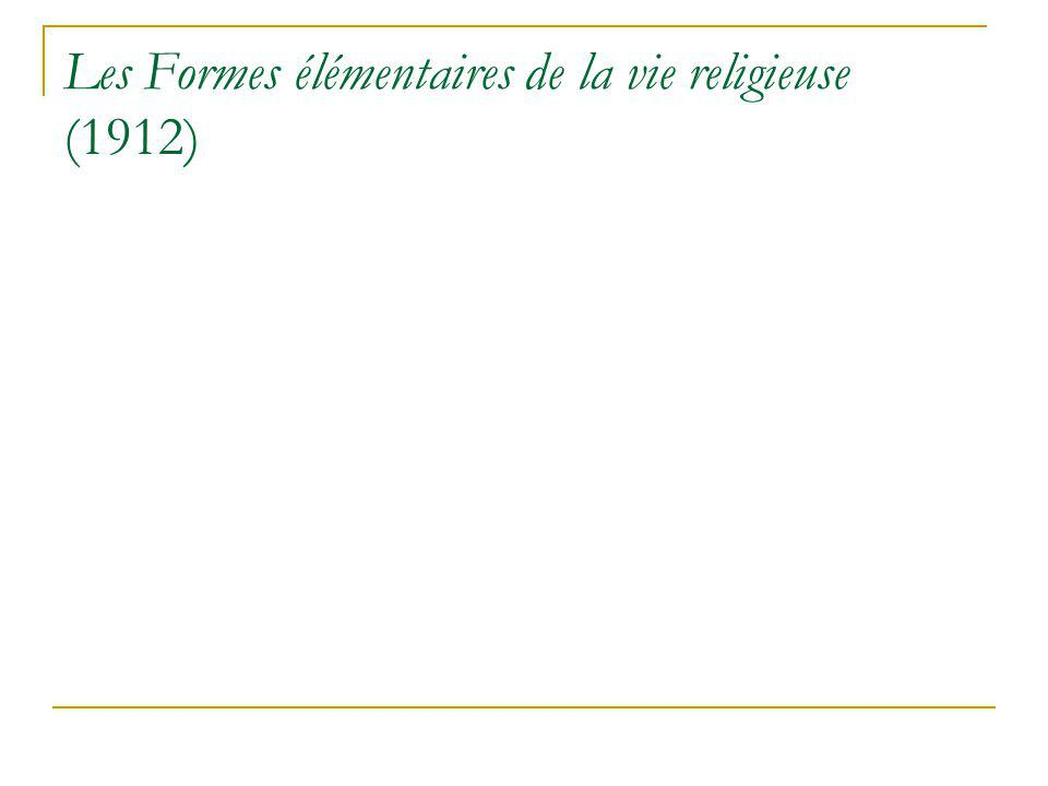 Les Formes élémentaires de la vie religieuse (1912)