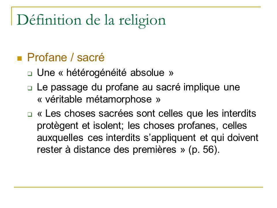 Définition de la religion