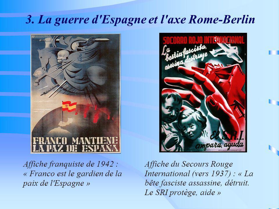 3. La guerre d Espagne et l axe Rome-Berlin