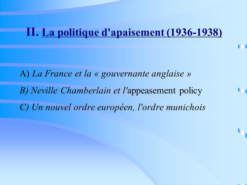 II. La politique d apaisement (1936-1938)