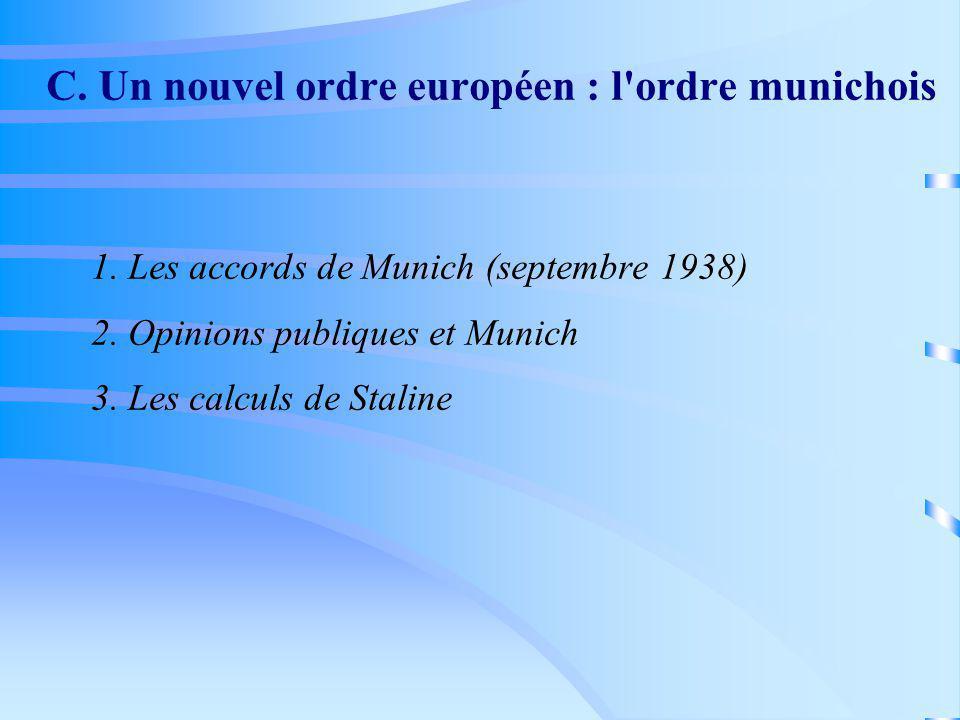 C. Un nouvel ordre européen : l ordre munichois