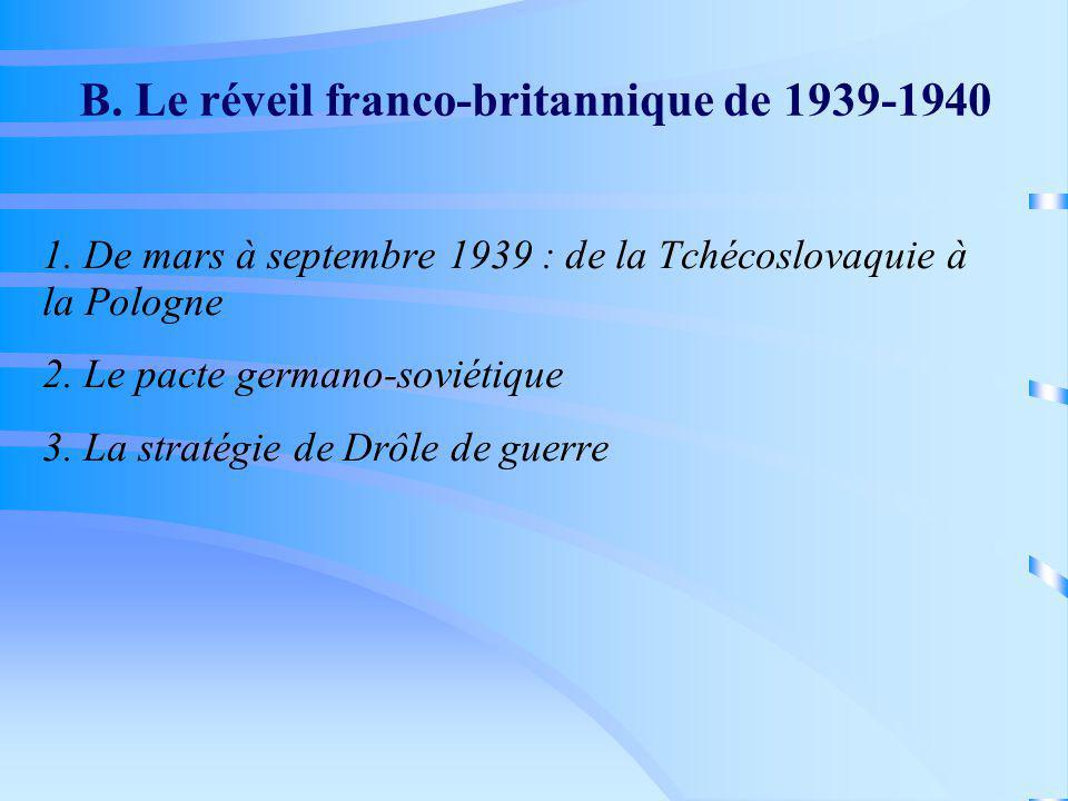 B. Le réveil franco-britannique de 1939-1940