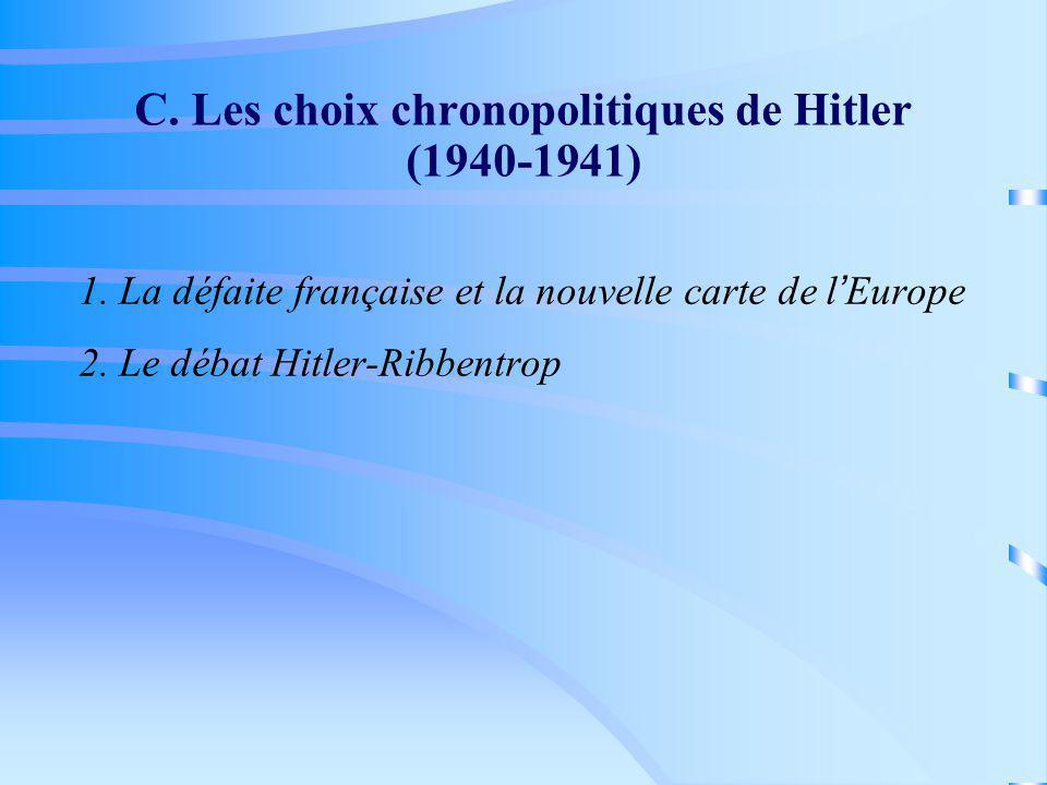 C. Les choix chronopolitiques de Hitler (1940-1941)