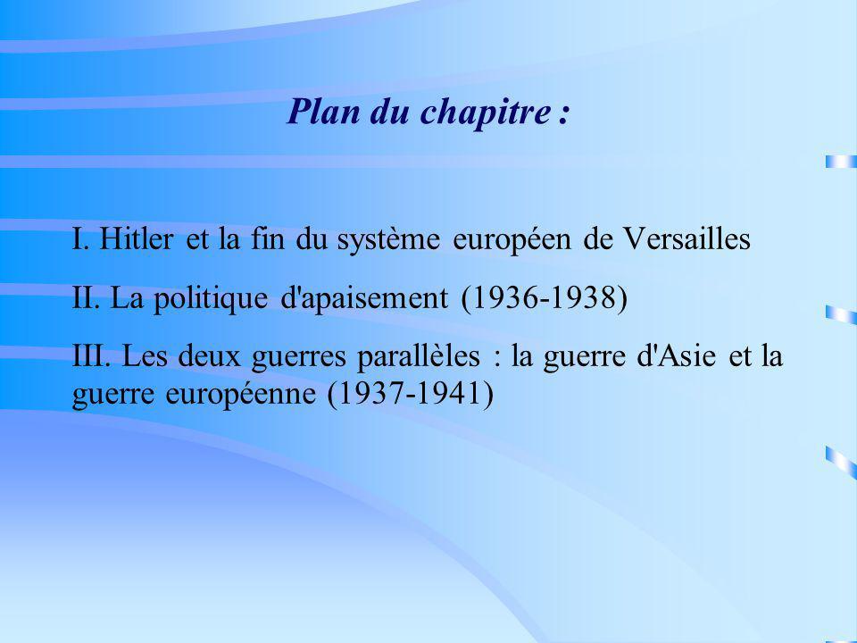 Plan du chapitre : Hitler et la fin du système européen de Versailles