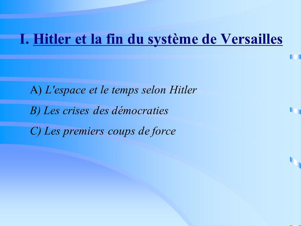 I. Hitler et la fin du système de Versailles