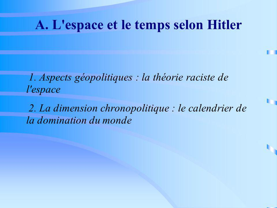 A. L espace et le temps selon Hitler