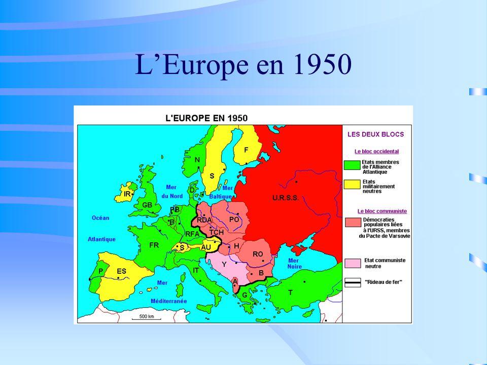 L'Europe en 1950