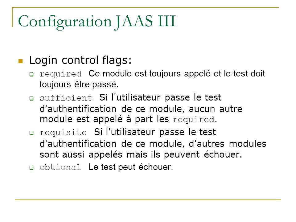 Configuration JAAS III