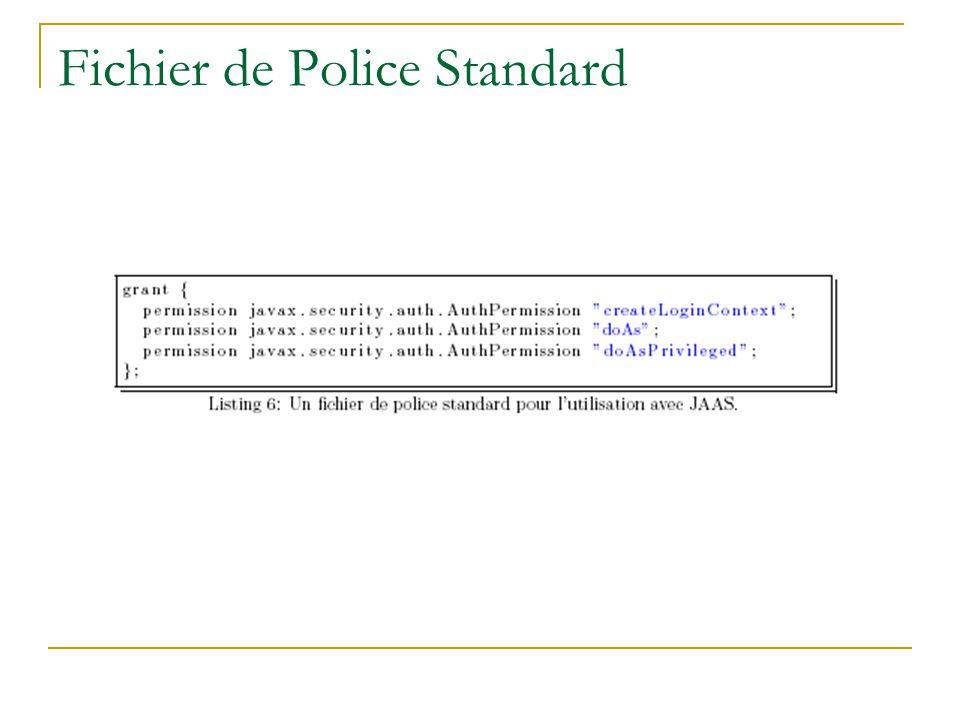 Fichier de Police Standard