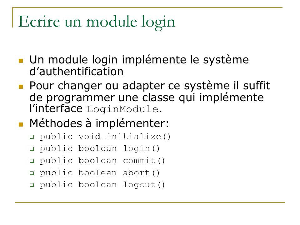 Ecrire un module login Un module login implémente le système d'authentification.