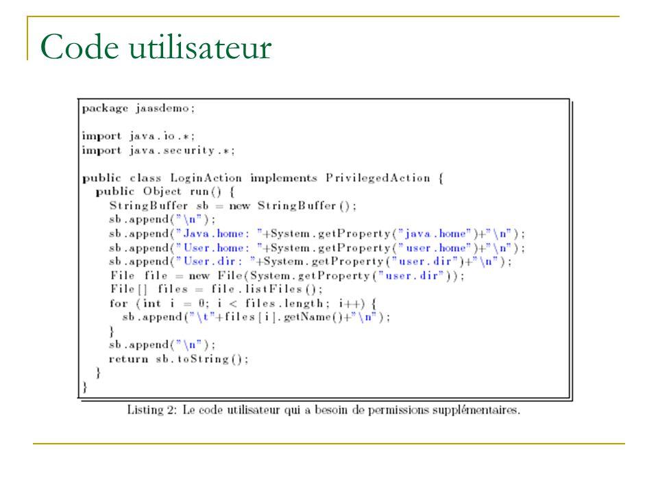Code utilisateur