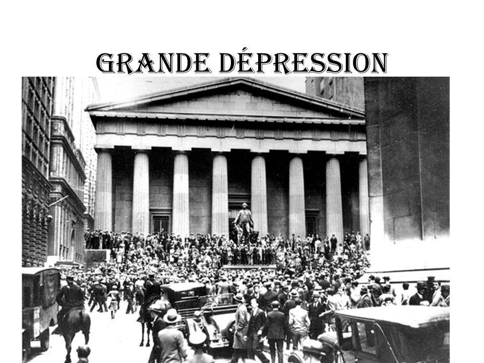 GRANDE DÉPRESSION
