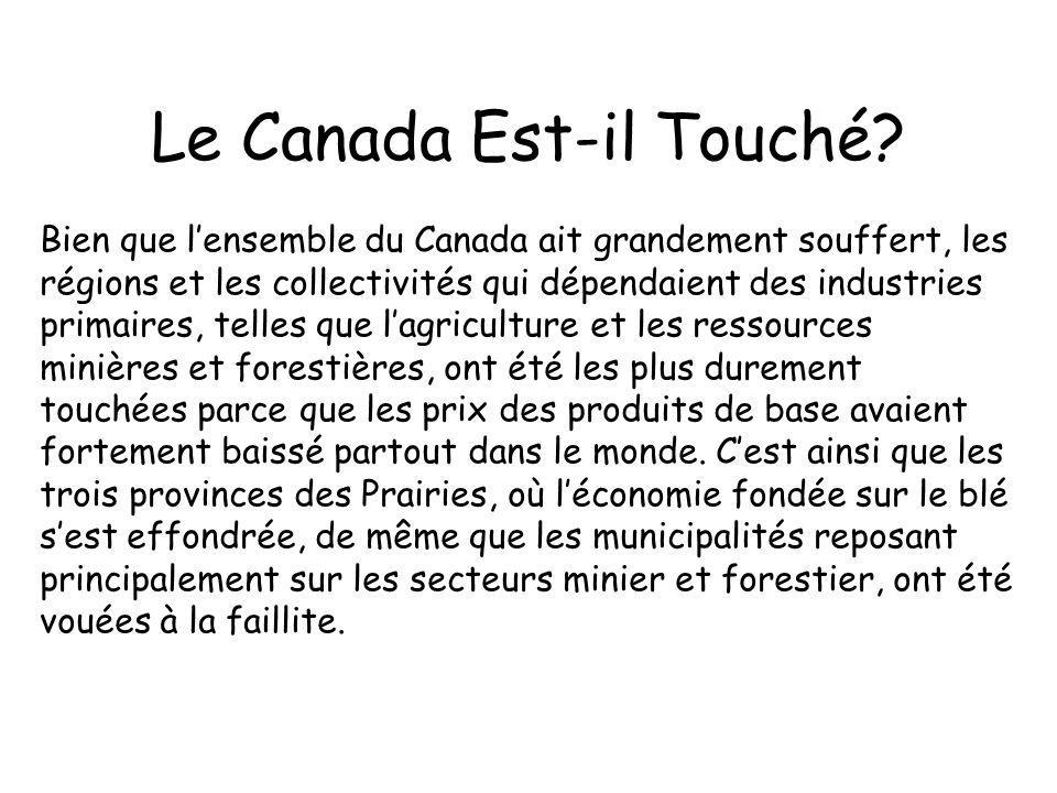 Le Canada Est-il Touché