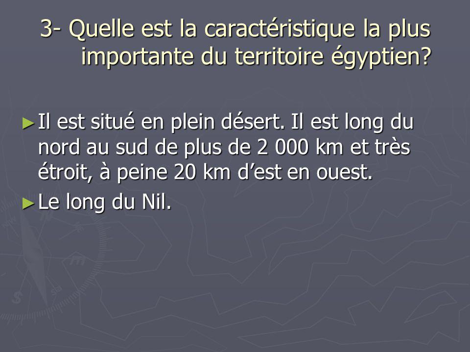 3- Quelle est la caractéristique la plus importante du territoire égyptien