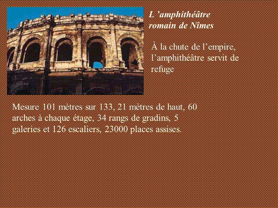 L 'amphithéâtre romain de Nîmes
