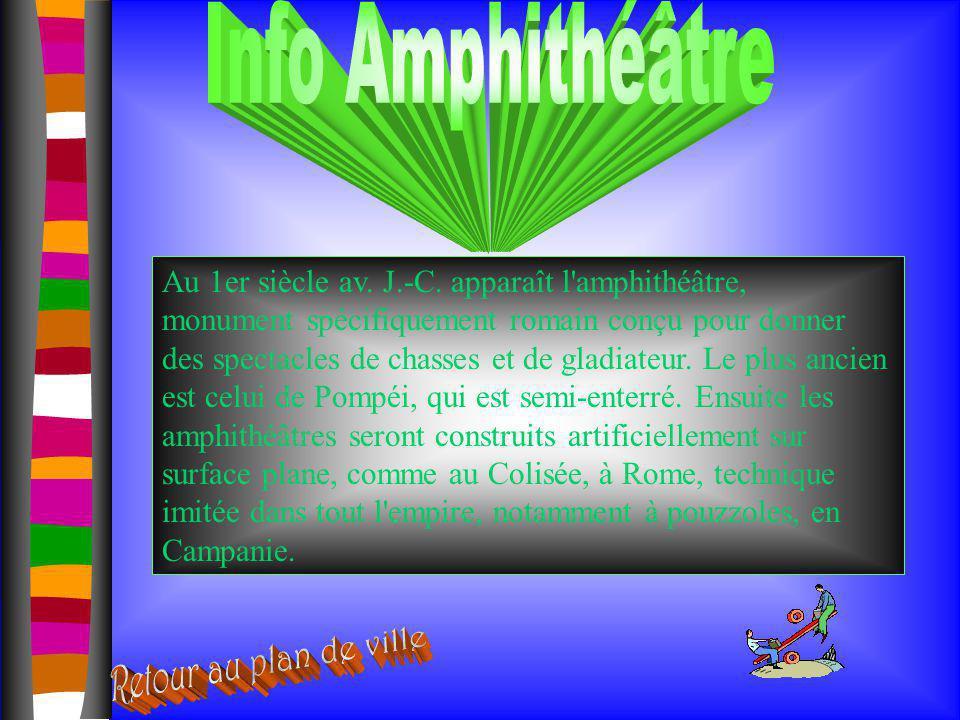 Info Amphithéâtre Retour au plan de ville