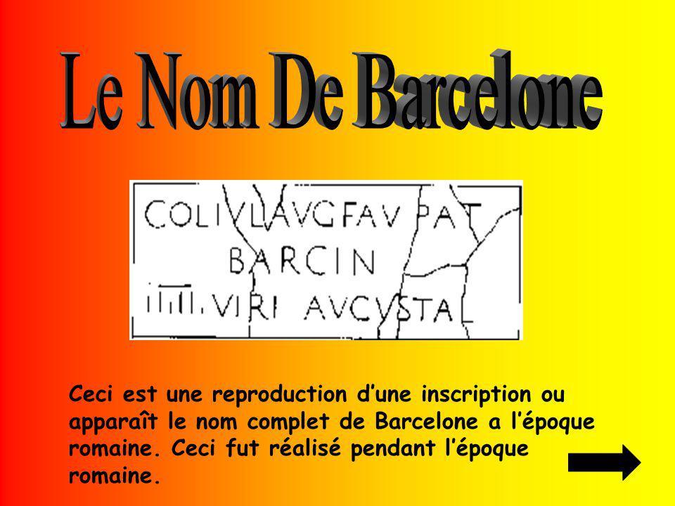 Le Nom De Barcelone
