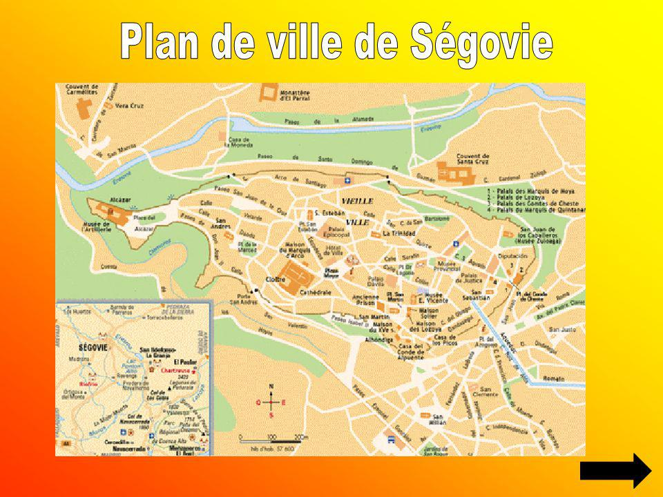 Plan de ville de Ségovie
