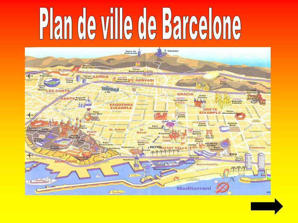 Plan de ville de Barcelone