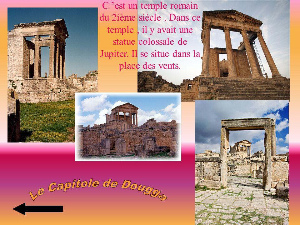 C 'est un temple romain du 2ième siècle