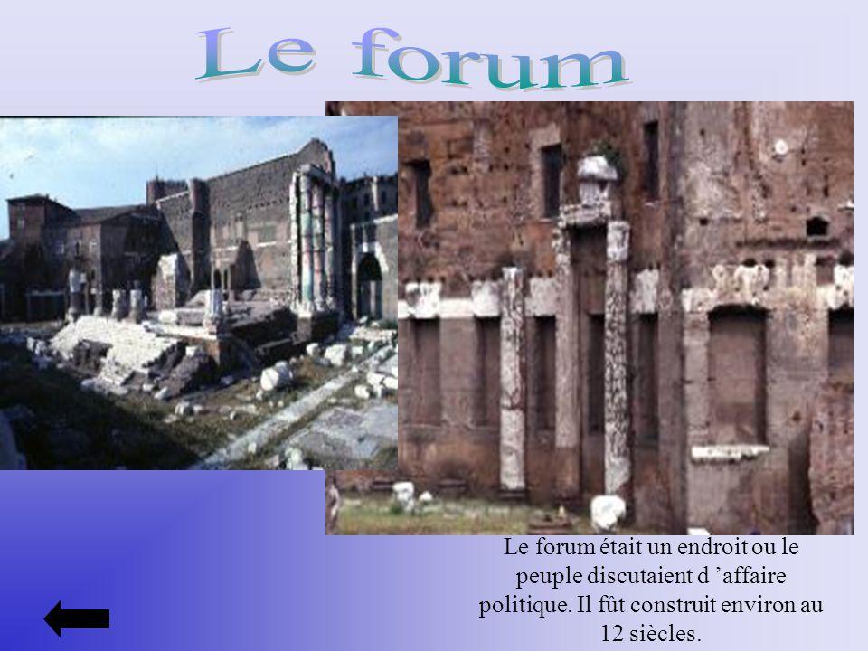 Le forum Le forum était un endroit ou le peuple discutaient d 'affaire politique.