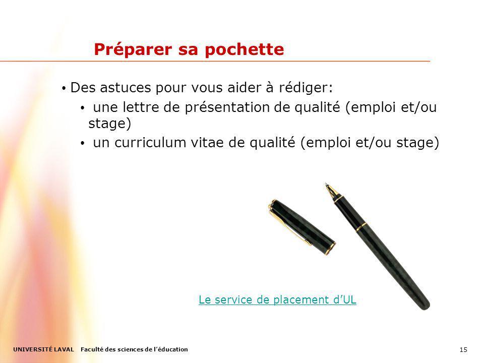 Préparer sa pochette Des astuces pour vous aider à rédiger: