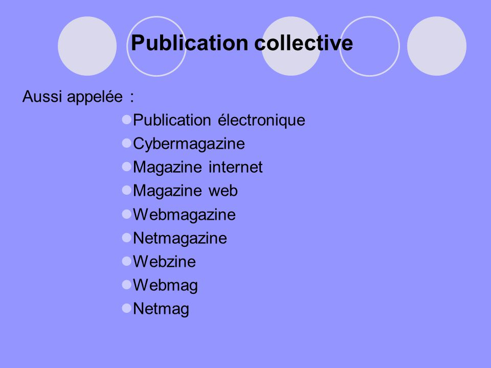 Publication collective
