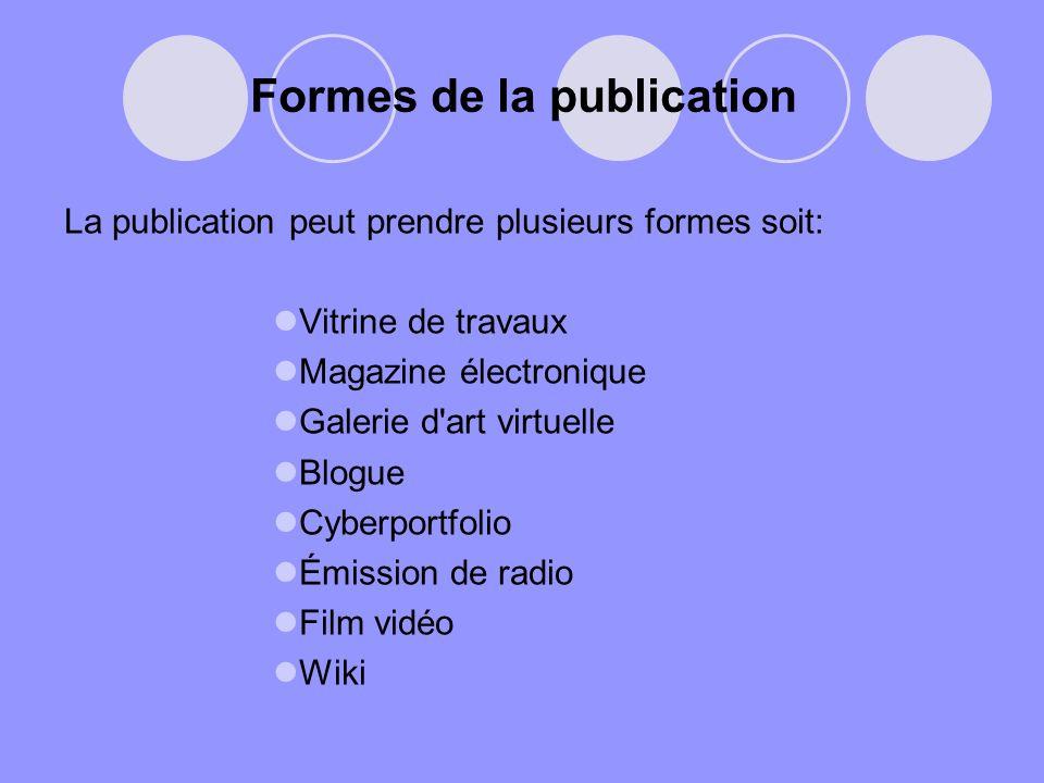 Formes de la publication