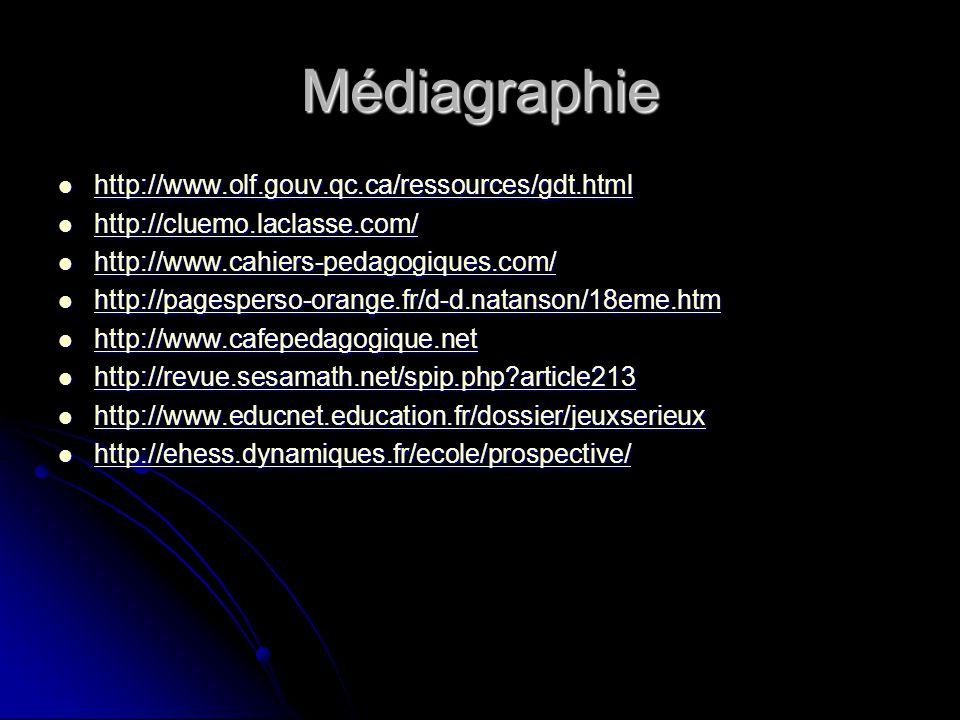 Médiagraphie http://www.olf.gouv.qc.ca/ressources/gdt.html