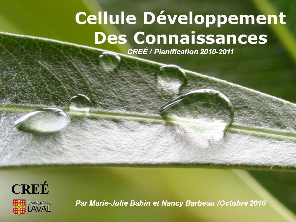 Cellule Développement Des Connaissances