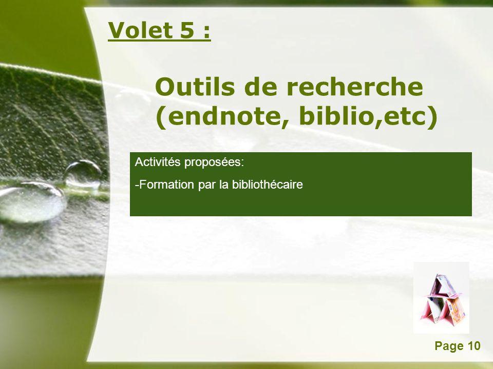 Outils de recherche (endnote, biblio,etc)