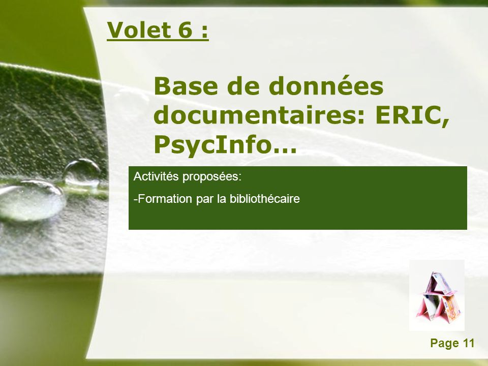 Base de données documentaires: ERIC, PsycInfo…