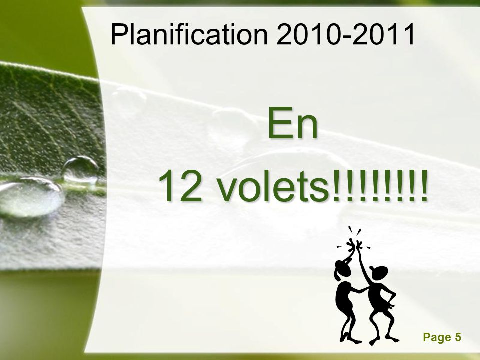 Planification 2010-2011 En 12 volets!!!!!!!!