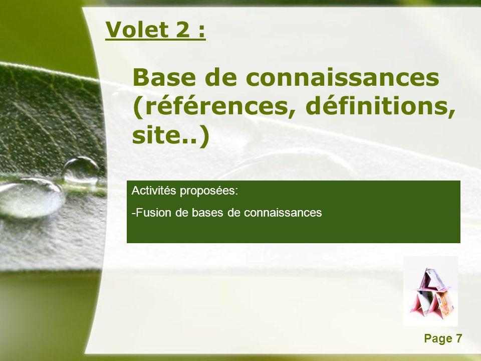 Base de connaissances (références, définitions, site..)