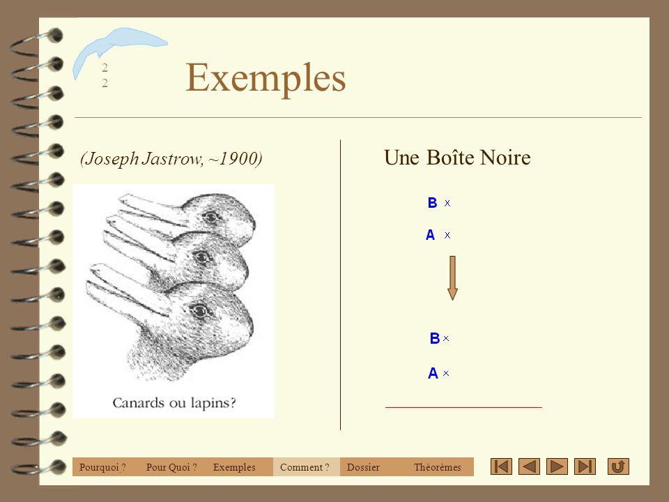 Exemples Une Boîte Noire (Joseph Jastrow, ~1900) CabriWorld 2001