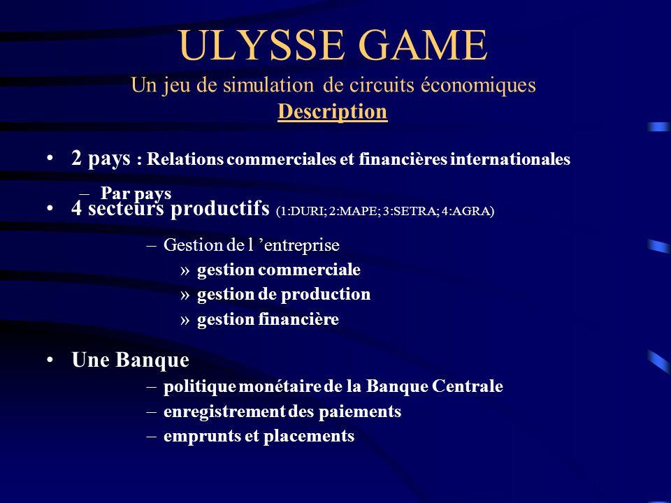 ULYSSE GAME Un jeu de simulation de circuits économiques Description